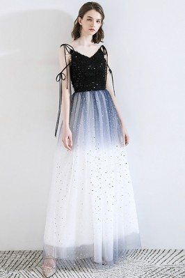 Blue Ombre Maxi Tulle Party...