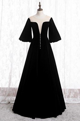 Black Velvet Formal Long...