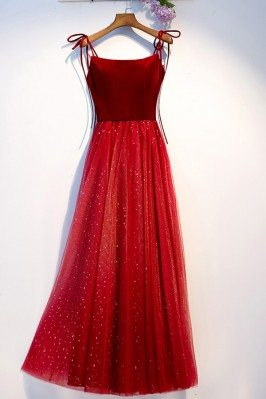Simple Two Tone Red Tulle...