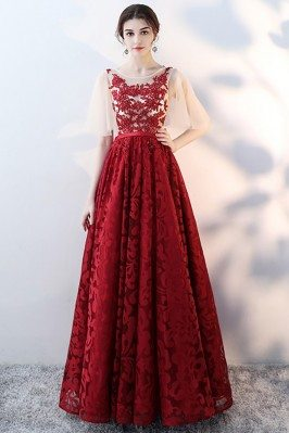 Gorgeous Burgundy Red Lace...