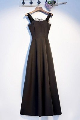 Simple Long Black Aline...