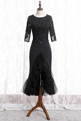Fitted Mermaid Black Formal...
