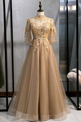 Formal Long Gold Champagne...