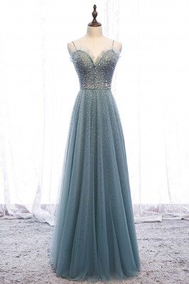 Bling Sequins Long Tulle...