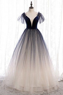 Ombre Tulle Ballgown Tulle...
