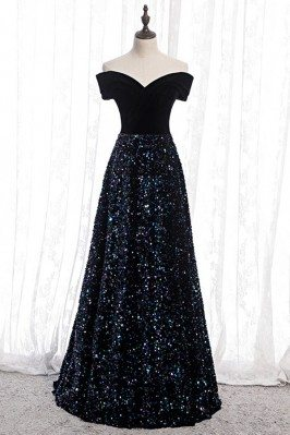 Sparkly Sequins Navy Blue...