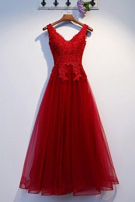 Long Tulle Aline Prom Dress...