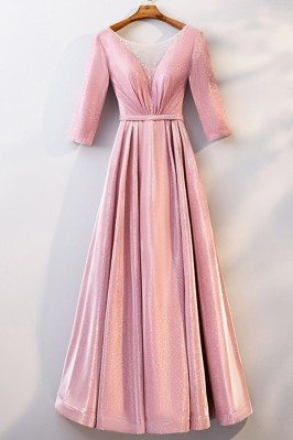 Illusion Vneck Long Pink...