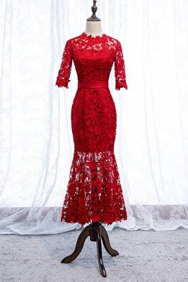 Gorgeous Red Lace Mermaid...
