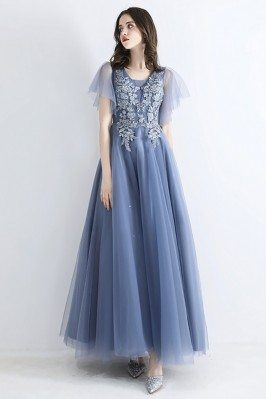 Fairy Dusty Blue Long Tulle...
