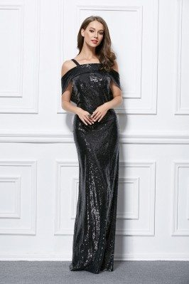 Sexy Backless Long Formal Sequin Dress