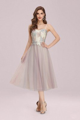 Pink Tulle Tea Length...