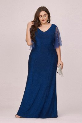 Elegant Plus Size Blue...