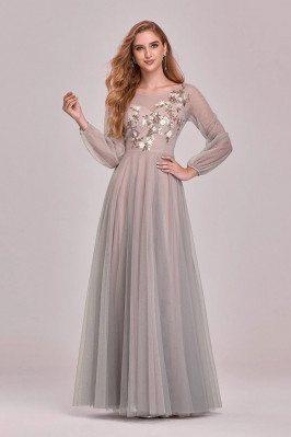 Flowy Aline Long Tulle Prom...