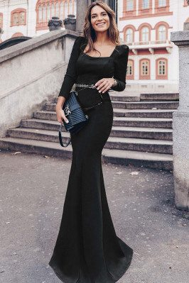 Classy Long Black Slim...