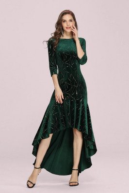 Modest Velvet Green High...