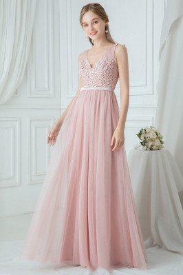 Blush Pink Tulle Aline...