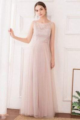 Pink Aline Long Tulle...
