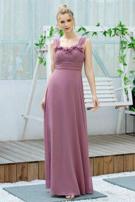 Purple Elegant Ruched Long...