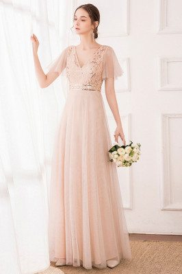 Blush Pink Tulle Bridesmaid...