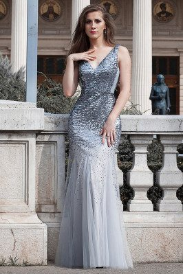 Grey Fishtail Sparkly...