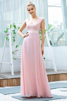 Pink Aline Chiffon Long...