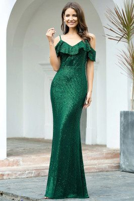 Formal Long Green Sequins...