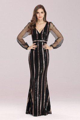 Shiny Sequin Mermaid Black...