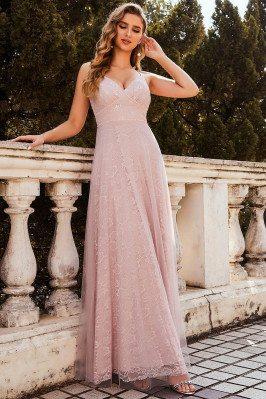 Sweet High Waist Pink Lace...