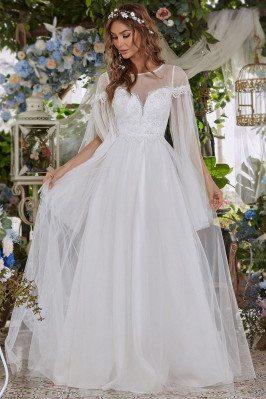 Beach Wedding Dress with...