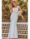 Cap Sleeve Lace Sweetheart Mermaid Style Wedding Dress - EH00218CR