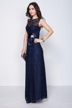 Lace High Neck Long Party Dress - CK347