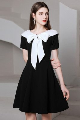 Romantic Bow Knot Black And...