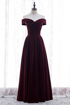 Formal Long Elegant Velvet...