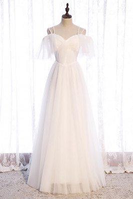 Pretty White Aline Long...