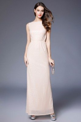 Nude Sequins Sleeveless...