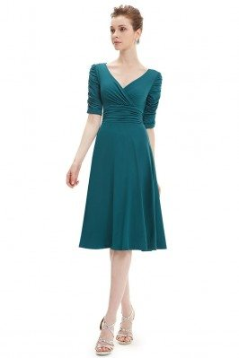 Teal V-neck 3/4 Sleeve High...