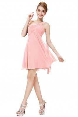 Pink One Shoulder Ruffles...