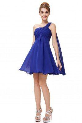 Royal Blue One Shoulder...
