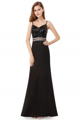 Black Sequined Sleeveless...