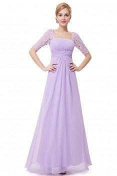 Lavender Lace Short Sleeve Long Evening Dress 45 Ep08038lv Shepromcom