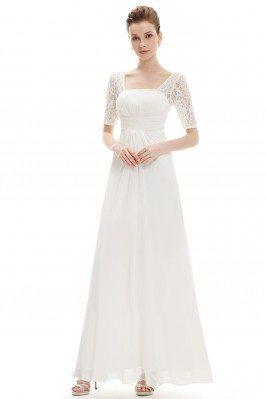 White Lace Short Sleeve...