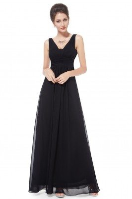 Elegant Black Deep V-neck...