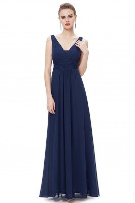 Elegant Navy Blue Deep...