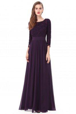 Elegant Dark Purple 3/4...