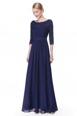 Elegant Navy Blue 3/4...