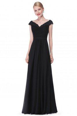 Black Beaded Lace Cap...