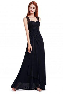 Black Simple Sheer Lace...