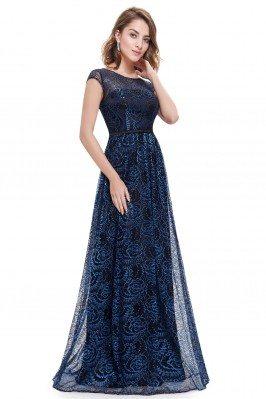 Royal Blue Long Lace...
