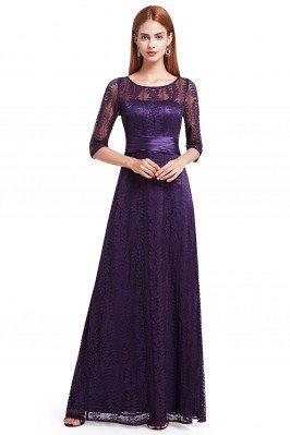 Dark Purple Lace Half...